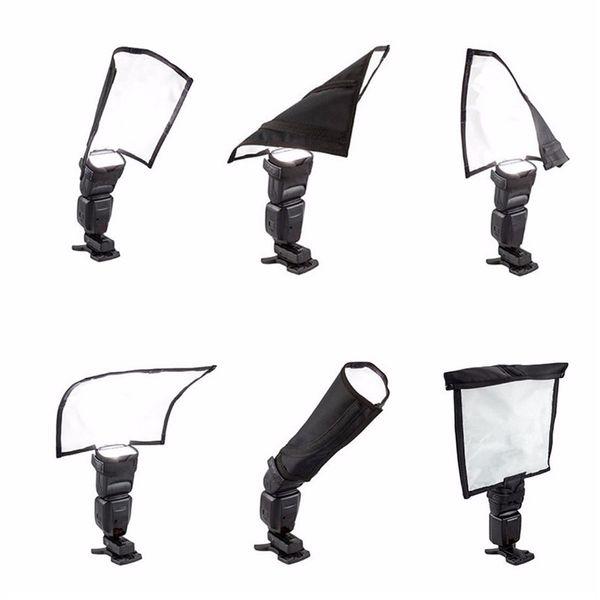 23x24.5cm Black Foldable Speedlight Reflector Speedlite Spotlighting Softbox Diffuser For Camera