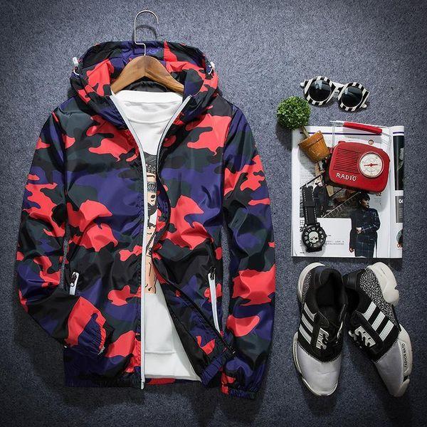 New Camouflage Jacket Men Women Plus Size Camo Hooded Windbreaker Jackets Military Canvas Jacket Parka Fashion Streetwear New style