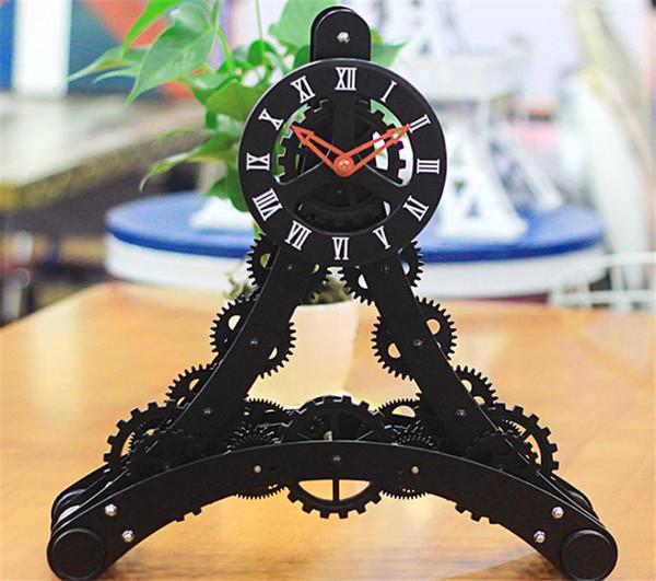 الديكور الجديد باريس برج ايفل تصميم الشخصية الإبداعية المعادن والعتاد ساعة مكتب غرفة المعيشة- C
