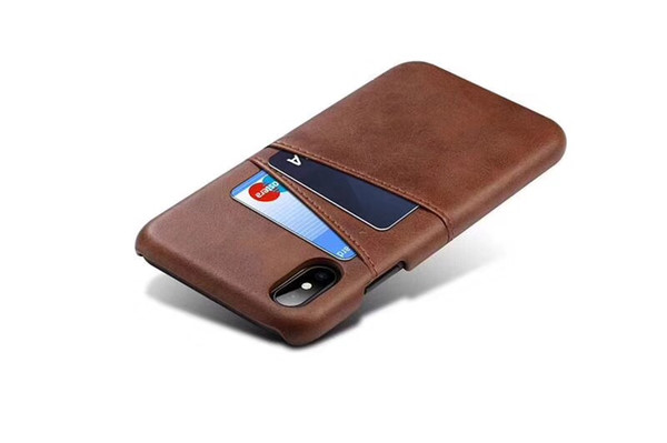Luxury PU leather case PC cover Business Style with card pouch for iphoneX 8plus 8 6 6plus 7 7plus Fashion Wallet Holder Shell better