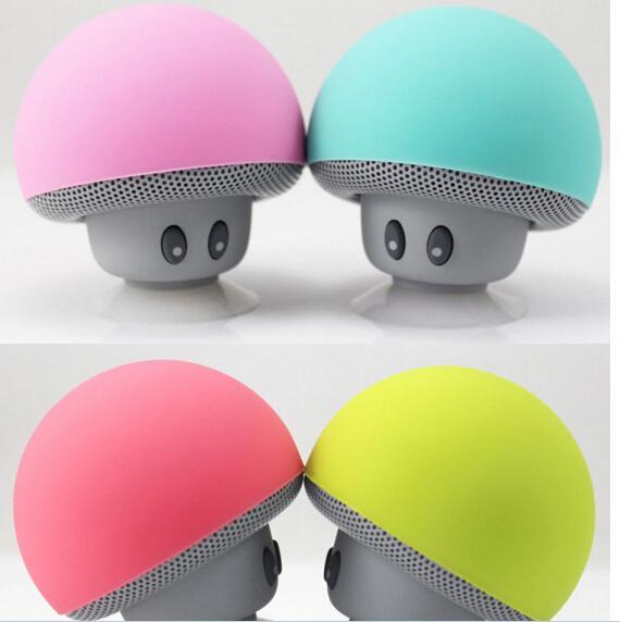 Best Quality Mushroom head Hands free Bluetooth stereo cute mini wireless Bluetooth portable speaker hot item by dhl