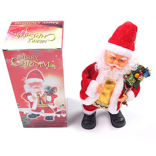 Christmas Dancing Cartoon.Santa Claus Electric Toy Singing Dancing Guitar Knocking Drum Room Decoration Holiday Gift Child Christmas Gift Cute Cartoon Christmas Toys For Kids