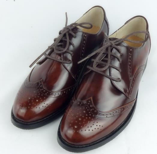 Red brown Oxford