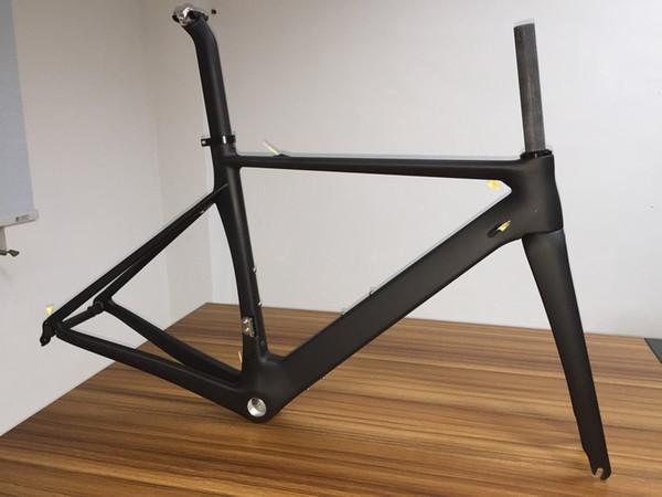 Colore bianco MATTE Carbonio lucido Telaio bici da corsa Bicicletta Frameset Fork Forkpost Headset Clamp
