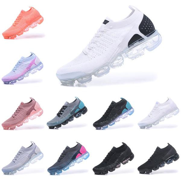 Nike air max 2018 airmax Vapormax 2.0 with box 2018 yeni geliş yüksek kalite Amiral Gemisi Ayakkabı erkekler kadınlar üçlü beyaz Siyah gri mavi pembe örgü eğitmenler moda tasarımcısı sne