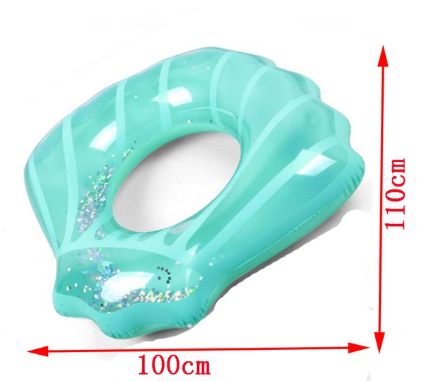 Large size new thickened adult inflatable shell swimming rings, buoy seat rings, inflatable floating shells on water.