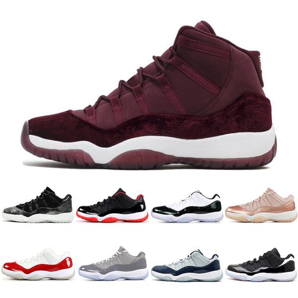 Acheter Nike Air Jordan Retro Pas Cher 11 11s Nuit De Bal Concord Teinte Platine Basket Chaussures De Sport Baskets Taille 7 13 En Vente De $55.53 Du