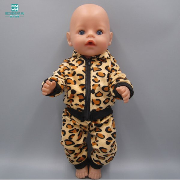 Baby Born Doll Clothes fits 43cm Zapf Baby Born Doll Tiger and Pants Suit