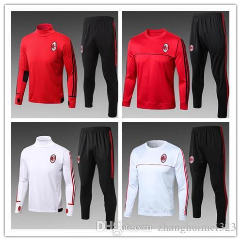 32898d99bba Top quality 2017 2018 AC Milan Soccer training suit sweatshirt kit  survetement 17 18 AC Milan