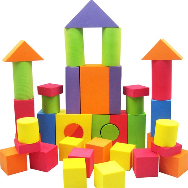42 Pcs Kid EVA Safe Foam Assemblage Building Blocks Soft Brick Educational Toys for Developing Creativity Compatible With