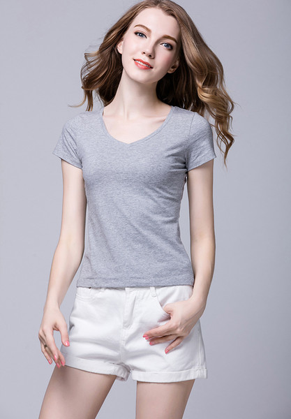 2018 woman High quality cotton new O-neck short sleeve t-shirt brand women T-shirts casual style for sport women T-shirts Brand T-shirt
