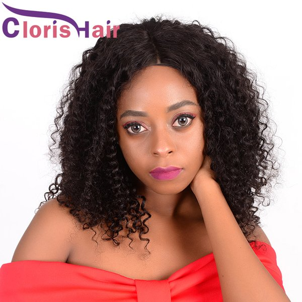 Afro Kinky Curly Bob Wigs Pre Plucked Raw Virgin Indian Short Pixie Human Hair Lace Front Wigs For Black Women Natural Hairline Curly Wig