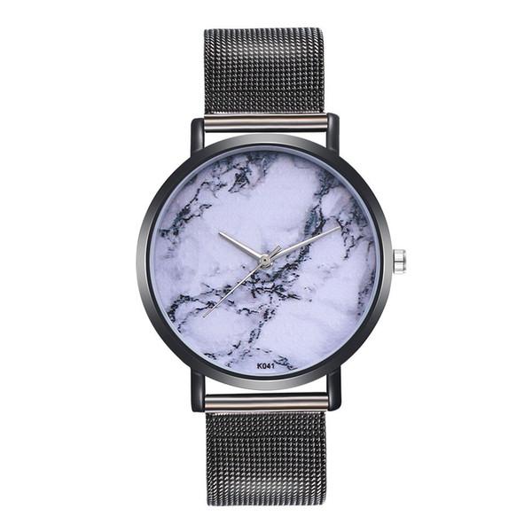 Woman Fashion Plant Pattern Alloy Steel Strap Analog Quartz Round Watch Quartz-Watch Female Male 2018 Splendid Clock Drop Ship