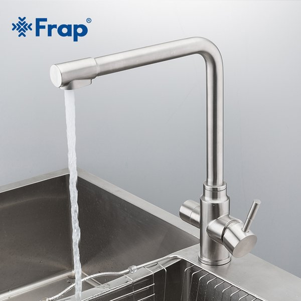 2019 Frap New Waterfilter Taps Kitchen Faucets Stainless Steel Mixer  Drinking Water Filter Faucet Kitchen Sink Tap Water Tap Y40036 From Olgar,  $98.22 ...