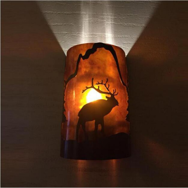 SVITZ salon Vintage Antlers wall sconce Lights Bar art Wall Lamps Bedside Mirror Led glass cover wall fixture Luminaire E27