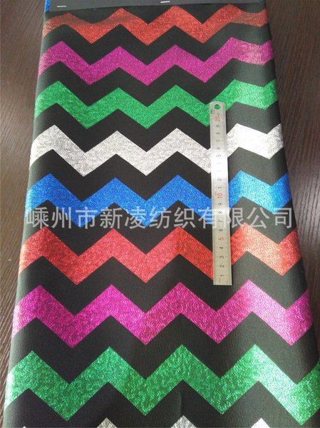 fashion fabrics Polyester metal wire trend women's large jacquard yarn-dyed fabric sewing for top,jacket,coat,outer,suits,dress,craft