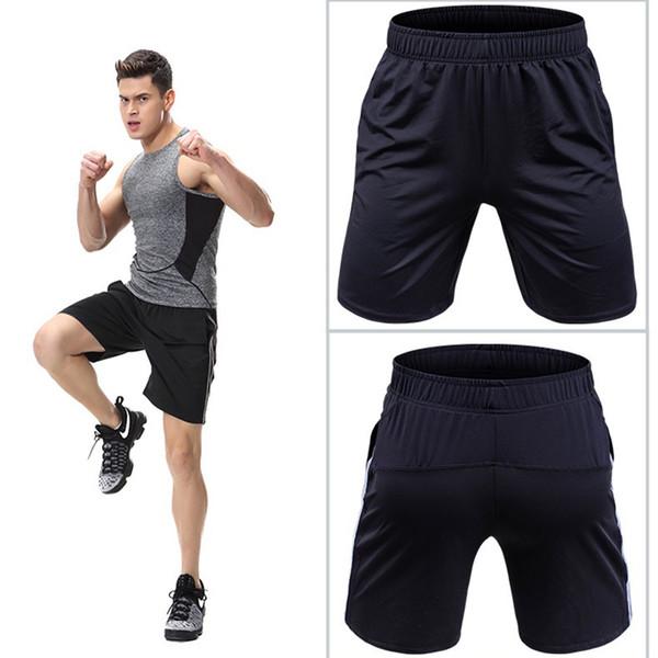 Short d'entraînement en polyester pour hommes M-4XL, plus la taille des survêtements Shorts de course Loose Gym Hommes Crossfit Sport Short