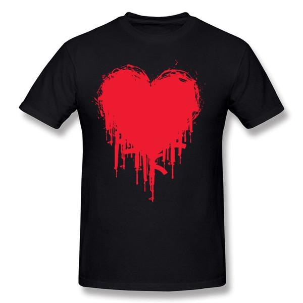 Mix Order Man 100% Cotton Dark Heart II Tee-Shirts Man Round Collar Blue Short Sleeved T-Shirts S-6XL Funny Tee-Shirts