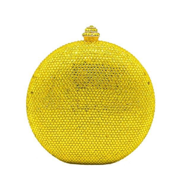 Bolso de cristal amarillo