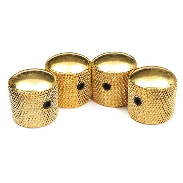 4PCS/Set Bronze Metal Dome Tone Tunning Knob with Black Plating Volume Control Buttons For Electric Guitar Bass