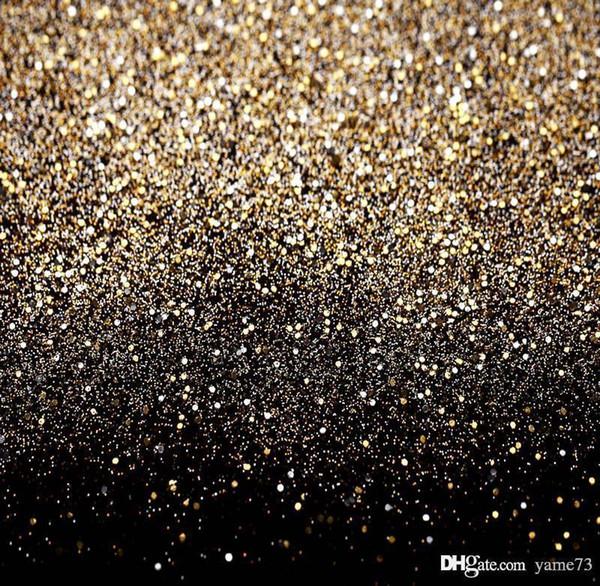 5x7ft Vinile Glitter nero oro puntini fotografia sfondo studio prop sfondo