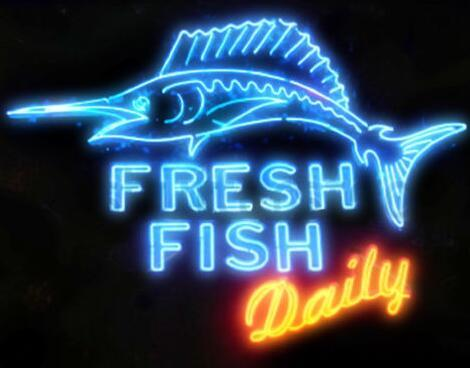 """Custom New Fresh Fish Daily Real Glass Neon Sign Light Beer Bar Sign Send need photo 19x15"""""""