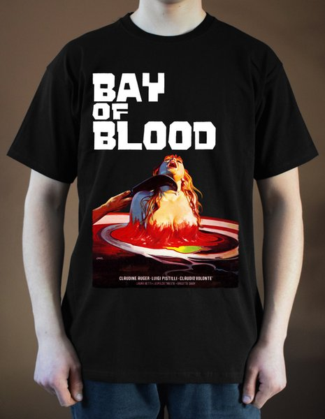 A BAY OF BLOOD Reazione a catena Movie poster ver. 1 T-Shirt (Black, red) S-3XL New Design Cotton Male Tee Shirt Designing