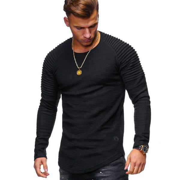 T-shirt da uomo a maniche lunghe tinta unita a maniche lunghe t-shirt da uomo a maniche lunghe t-shirt a righe raglan manica corta da uomo t-shirt
