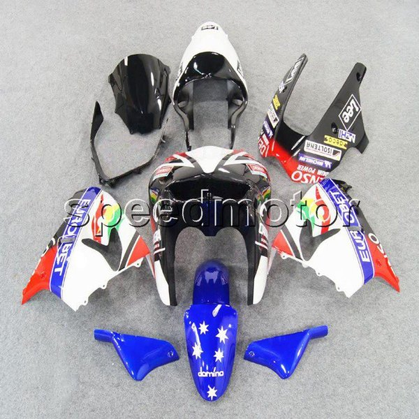 23colors+Gifts red white blue star bodywork motorcycle Fairing for Kawasaki ZX9R 1998-1999 ZX-9R 98 99 ABS plastic kit