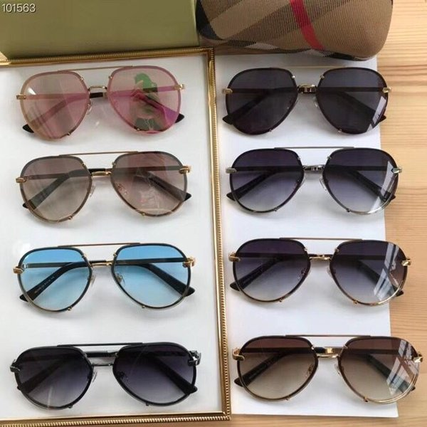 fefcd022f5a Summer Newest Style polarized sunglasses For Womens Metal frame Classic  fashion Anti-UV Top Quality With Box BE3099