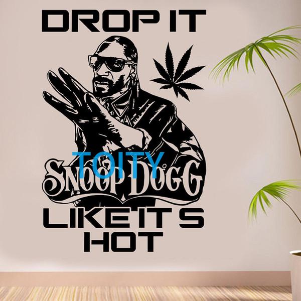 Snoop Dogg Wall Sticker Drop it like its hot Vinyl Decal Hip Hop Music Poster Room Interior Decor Art Mural H85cm x W58cm