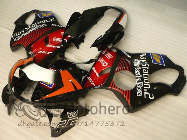 Injection molding Free Gifts Bodywork For HONDA CBR600 F4 1999 2000 CBR 600F4 99 00 Black Red I32432 CBR 600 F4 99-00 FS Fairing Kit