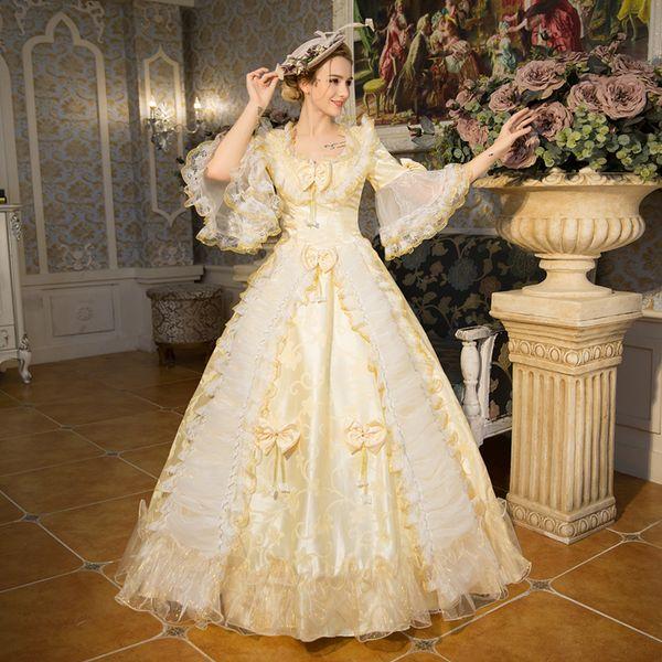 Victoria Gotik Gürcü Dönemi Elbise Balo Balo Reenactment Giyim Rokoko Elbiseler Kostüm