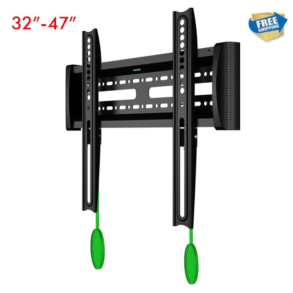 """free shipping Universal 32""""-47"""" Flat Panel LCD LED TV Wall Mount Fixed TV Rack With Lock & Unlock Device NB C2-F"""