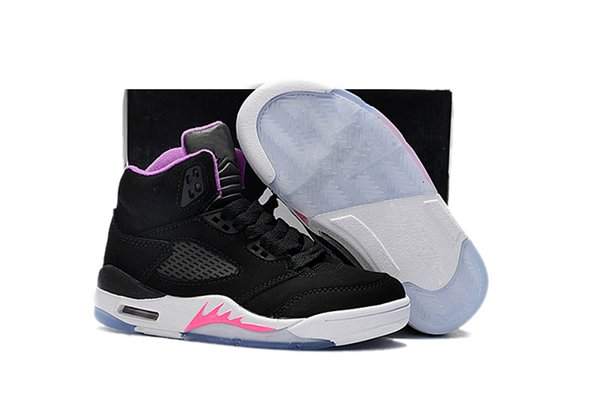 Compre Nike Air Jordan 5 11 12 Retro Zapatos De Niño Big Boy Envío Gratis XII GS Pink Limonada Zapatos De Baloncesto Womens Kids 12s Pink Lemonade XII