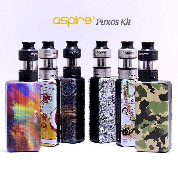 100% Original Aspire Puxos Kit With Cleito Pro Tank 3 0ML/2 0ML Puxos Vape  Mod 80W 100W Support 18650 20700 21700 Battery Vape Cigarette Vape Kit From