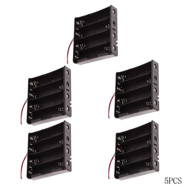 best selling 5pcs 18650 Battery Holder Power bank Brand Plastic Battery Holder Storage Box Case for 4x18650 Battery Holder