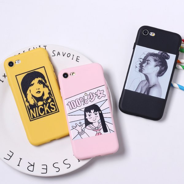 Divertido Anime Cartoon Punch Man Girl TPU Funda mate de silicona para iPhone 6 6S 5 5S SE 8 Plus X Funda suave iPhone 7 7 Plus