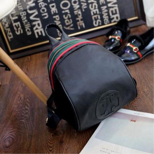 Backpacks for Teenage Girls Fashion School Bags Luxury Handbags Strap Striped Famous Brand Zipper Backpacks Shoulder Mochila Soft Travel