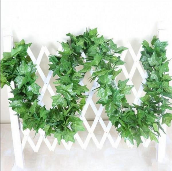 2.2 m artificielle plantes fausses feuilles de lierre vert raisin artificiel vigne verdure guirlande mariage fleur décoration de la maison pas cher
