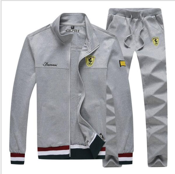 Brand Men Sets Fashion Autumn Spring Sporting Suit Sweatshirt+Sweatpant Tracksuit Men's Sportswear Zipper Clothing 2 Pieces Sets