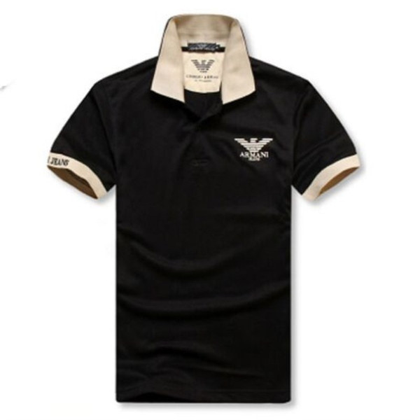 b0c3f195396 Mens Classic Polo Shirts T-shirt Hot Sale Summer Loose Tees Mens Short  Sleeve Embroidery Polos Tees High Quality Tshirt Plus-size M-2XL