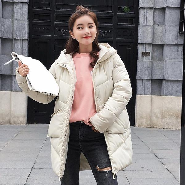 Women Winter Plus Size Warm Thicken Coat 2018 Fashion Cotton Padded Jacket Long Hood Slim Parkas Outerwear