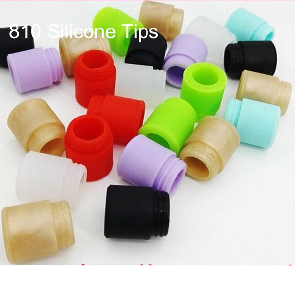 top popular 810 Disposable Test Drip Tips Silicone Rubber Tester Mouthpiece Such Tip Wire Bore For TFV12 TFV8 X Big Baby Prince Tank Crown RTA 2021