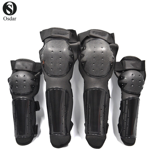 Motorcycle Protection Knee and Elbow Adjustsble Protective Gear Knee Elbow Shin Pads Cap Guards Armor Protection 4pcs /1Set