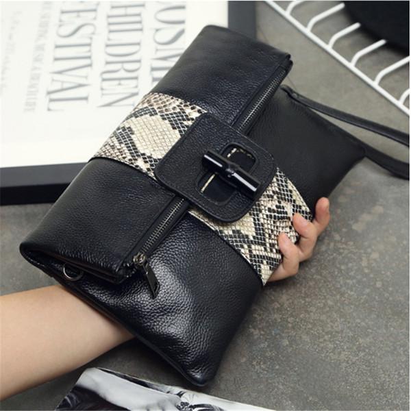 2018 LAZZOVS fashion shoulder totes bags Snake print High-capacity Clutch bag luxury designer handbags women messenger bags
