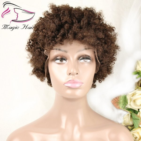 Evermagic hair afro kinky curly wig Brazilian remy wigs for women black natural afro hair human hair wigs color 4# free shipping