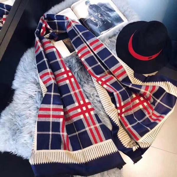 Explosions d'hiver des femmes cachemire chaud sauvage contraste couleur foulards châles écharpes pashminas gros