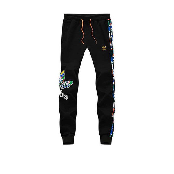top popular Plus size L-5XL mens designer joggers new striped letter print sport pants for men fashion cotton men sweatpants free shipping 2019