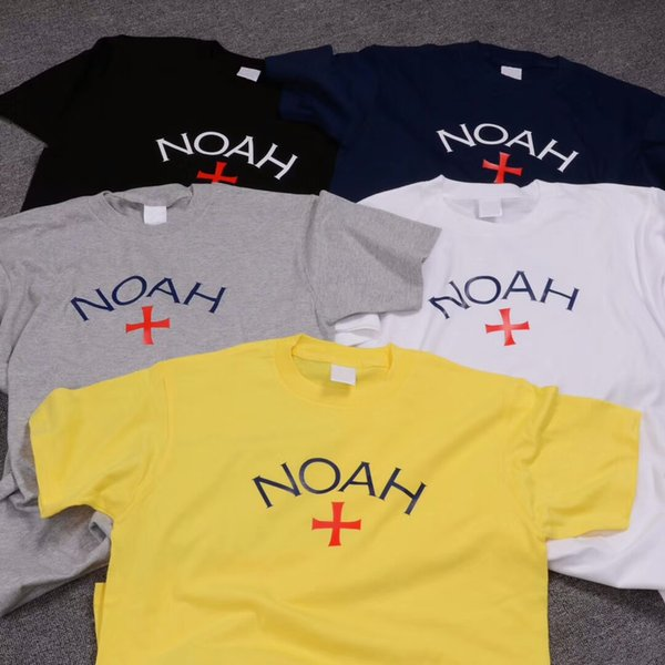 Camiseta de manga corta NOAH de calidad superior Camiseta de jersey de algodón 100% Hombres Mujeres Parejas Summer Casual Tees Camisa de skate NOAH LLWI0303